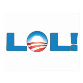 LOL Anti Obama Postcard