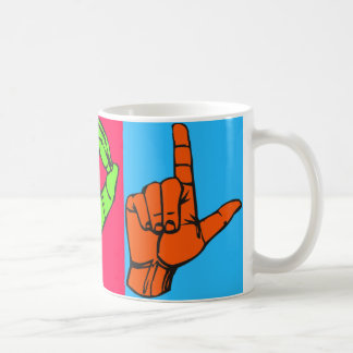 LOL ASL Sign Language Design #2 Coffee Mug
