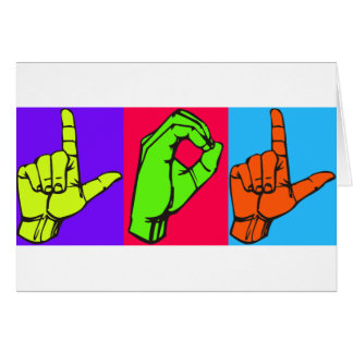 LOL ASL Sign Language Design #2 Greeting Card