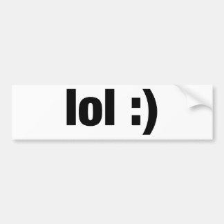 lol bumper sticker