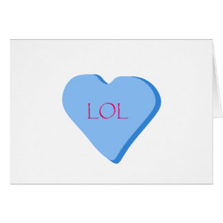 LOL Candy Heart Greeting Card