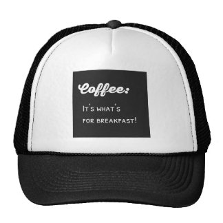 Lol Coffeeholic Typography Coffee for Breakfast Cap