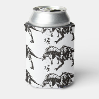 LOL dinosaur chasing people anti motivational Can Cooler