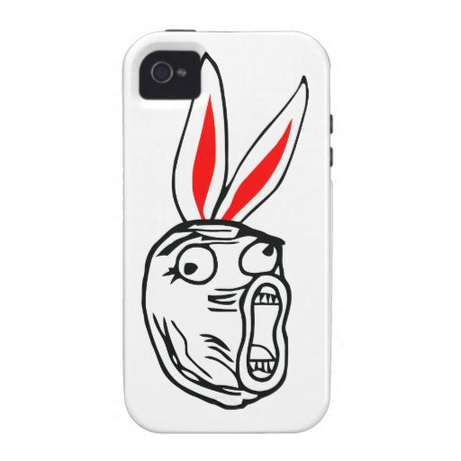 LOL - Easter Bunny edition internet meme Case-Mate iPhone 4 Cover