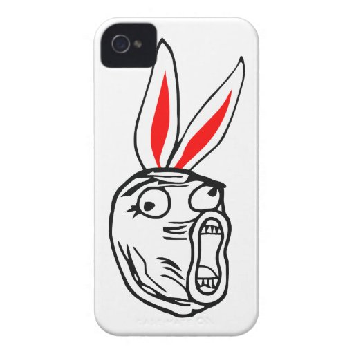 LOL - Easter Bunny edition internet meme iPhone 4 Case