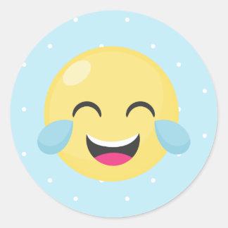 Lol Emoji (dots) Classic Round Sticker