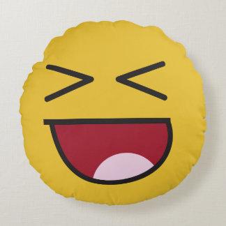 lol. emoji round cushion