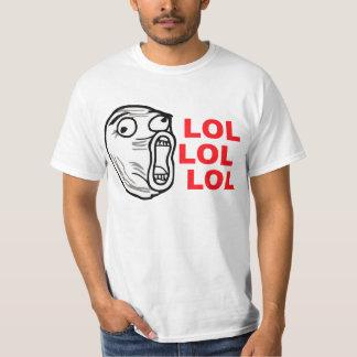 lol face meme humor rofl omg omfg T-Shirt