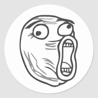 LOL Face Classic Round Sticker