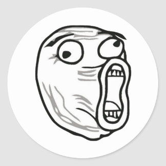 lol-guy large round sticker