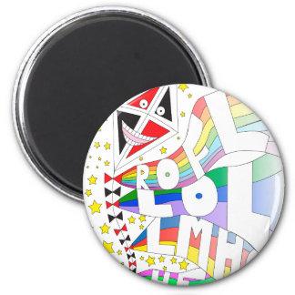 LOL Kite t-shirt 6 Cm Round Magnet