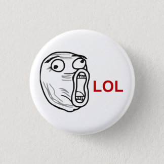 LOL Laugh Out Loud Rage Face Meme 3 Cm Round Badge