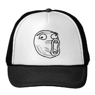 LOL Laugh Out Loud Rage Face Meme Mesh Hat