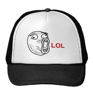 LOL Laugh Out Loud Rage Face Meme Hat