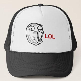LOL Laugh Out Loud Rage Face Meme Trucker Hat
