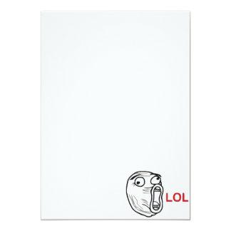 LOL meme 13 Cm X 18 Cm Invitation Card