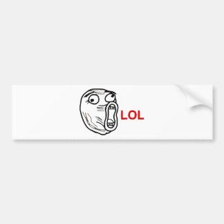 LOL Meme Bumper Sticker