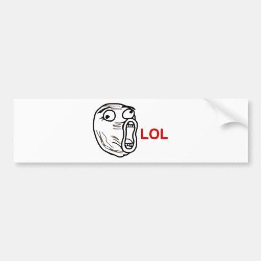 LOL Meme Bumper Stickers