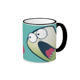 LOL scared monster falling hearts anti-Valentines Mugs