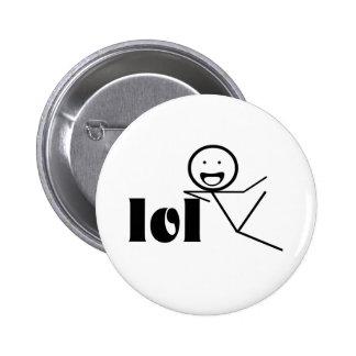 lol stick man 6 cm round badge