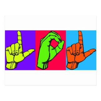 LOL Warhol ASL Sign Language Design 2 Postcards