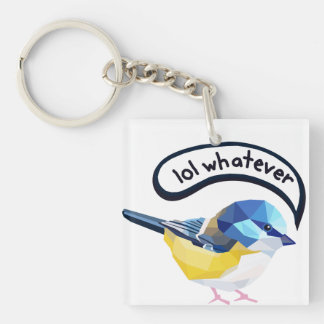 Lol Whatever Single-Sided Square Acrylic Key Ring