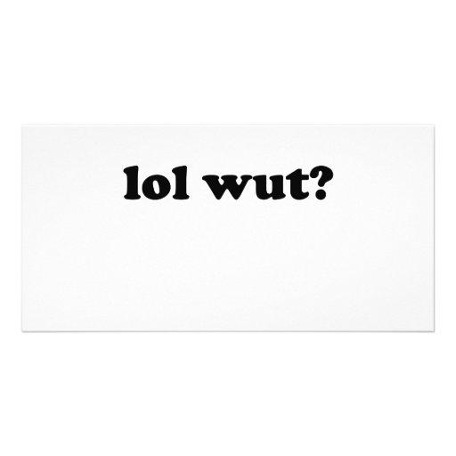Lol wut? photo card