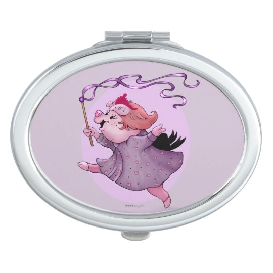LOLA PIGGY CARTOON compact mirror OVAL