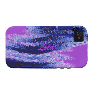 Lola's Blue and Purple iPhone 4 cover