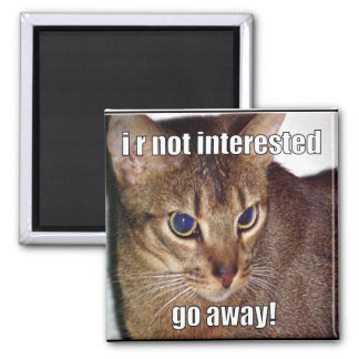 LOLCat 3 Square Magnet