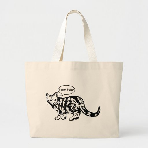 lolcat - i can has? canvas bags