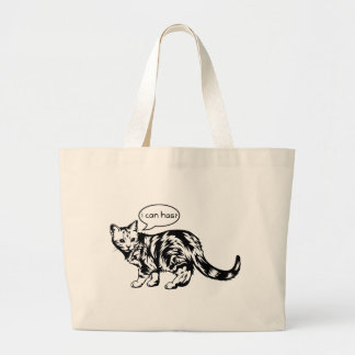 lolcat - i can has canvas bags