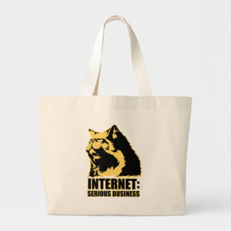 lolcat the internet is serious business canvas bag