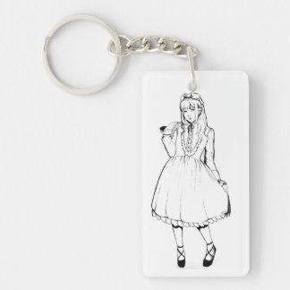 Loli girl keychain