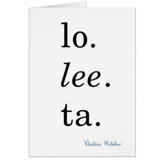 Lolita - Vladimir Nabokov Card