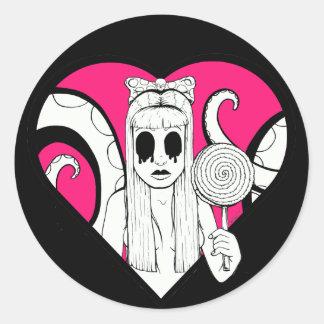 Lollie Heart Sticker
