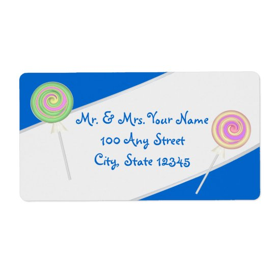 Lollipop Candy Treasures Blue Address