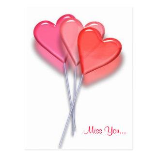 Lollipop Hearts Post Cards