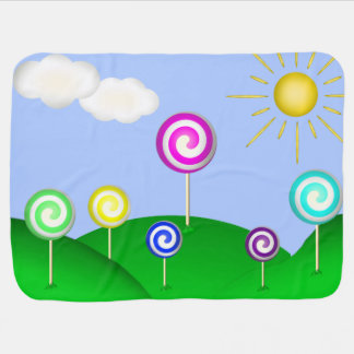 Lollipop land baby blanket