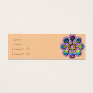 Lollipop Lavendar Outline Mini Business Card