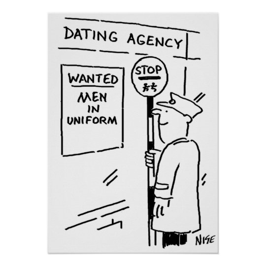 Lollipop Man is Reading a Dating Agency Poster