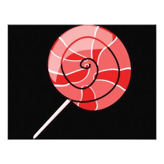 LolliPop red Personalized Invite