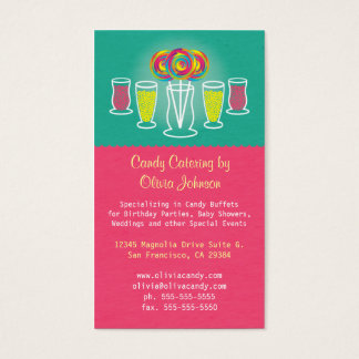 Lollipop Style Candy Catering Business Card