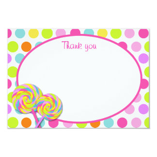 Lollipop Sweet Shoppe Thank You Cards