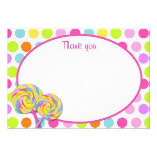 Lollipop Sweet Shoppe Thank You Cards