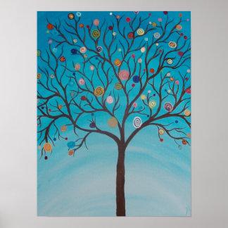 Lollipop Tree Print on Canvas