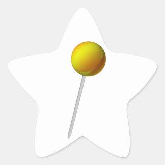 Lollipop yellow star sticker