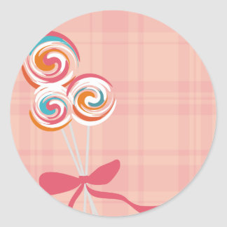 lollipops candy maker baking kitchen gift tag stic round sticker