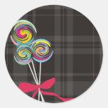 lollipops candy maker baking kitchen gift tag stic round sticker