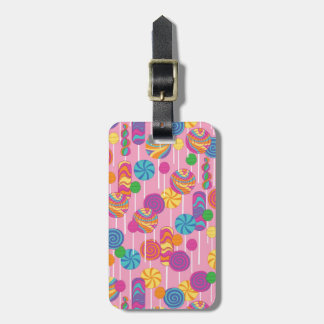 Lollipops Candy Pattern Luggage Tag